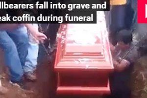 Kiesett az elhunyt egy temetésen Peruban